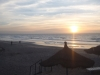 Sunset from Kabana bar Senegambia beach