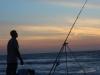 Fishing at sunset, Bijilo beach