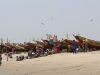 Fishing boats on Sanyang beach