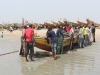 Bringing the boat in at Sanyang